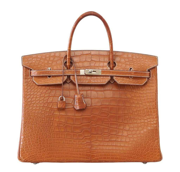 Hermes Birkin 40 Fauve Alligator Bag