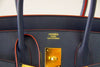 Hermes Birkin 35 navy rouge Limited Edition Epsom gold pristine embossing