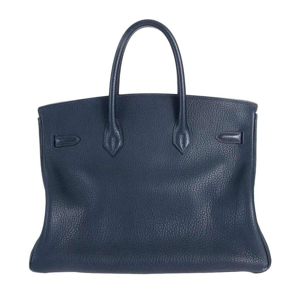 hermes birkin 35 navy used back