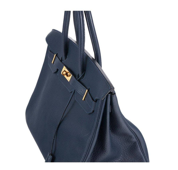 hermes birkin 35 navy used detail