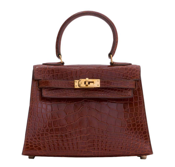 Hermes Mini Kelly Miel Crocodile Bag