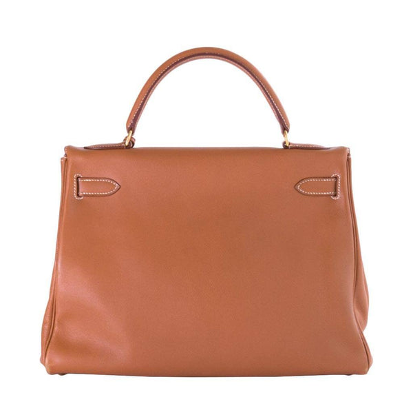 hermes kelly 32 gold used back