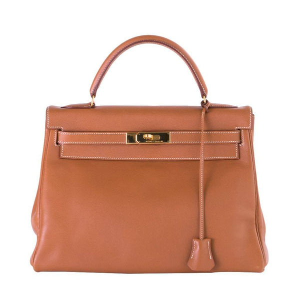 Hermes Kelly 32 Gold Gulliver Bag