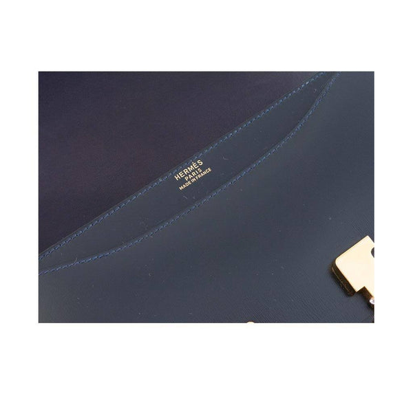 hermes constance 23 navy used embossing