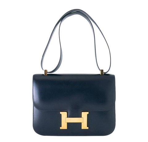 Hermes Constance 23 Navy Bag