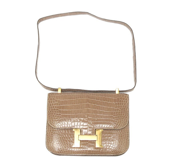 hermes constance 23 light beige used front