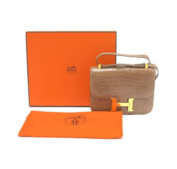 hermes constance 23 light beige used box