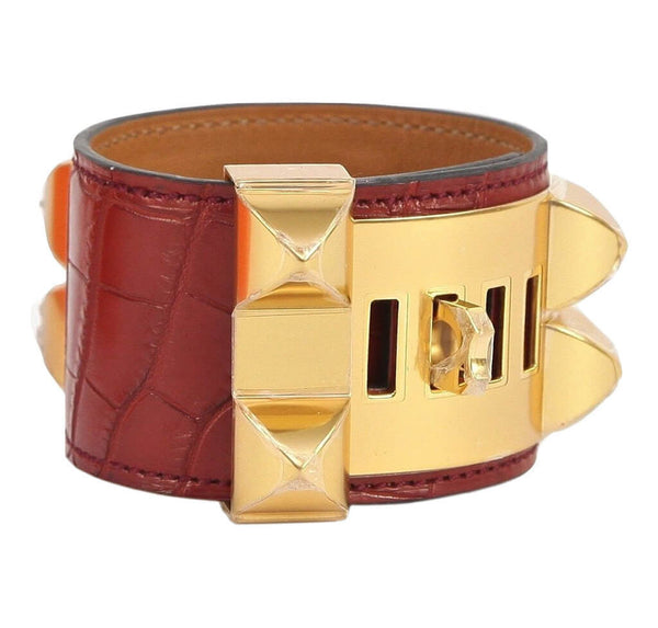 Hermes Collier de Chien Bracelet Alligator