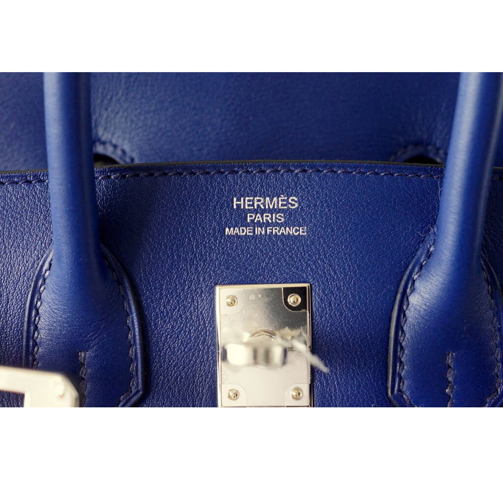 counterfeit hermes bags - Hermes Birkin 25 Bleu Saphir Bag - Swift Leather Palladium ...
