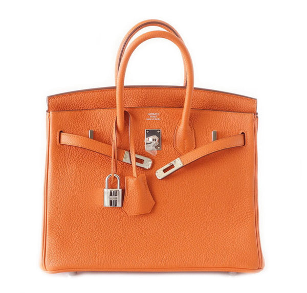 Hermes Birkin 25 Bag Orange Togo