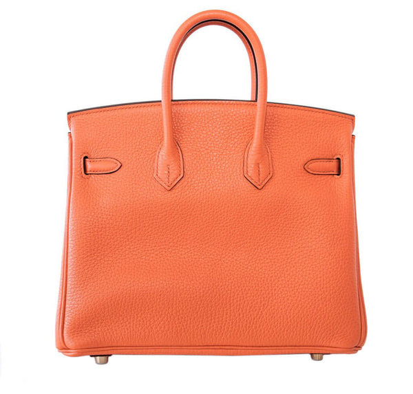 Hermes Birkin 25 Bag Orange Poppy