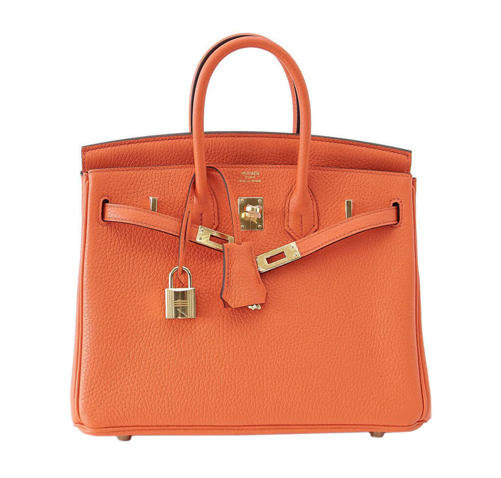 32d2270685c8 Hermes Birkin 25 Bag Orange Poppy Hermes Birkin 25 Bag Orange Poppy ...
