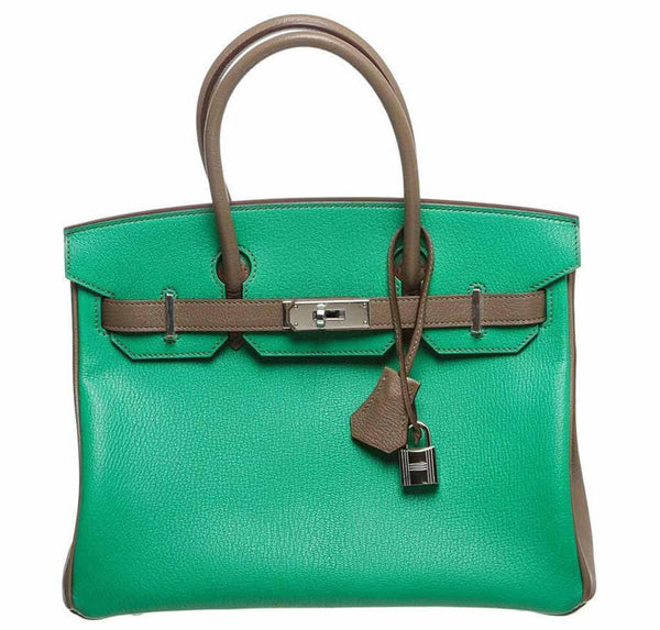 Hermes Birkin Bag 30 Green Chevre