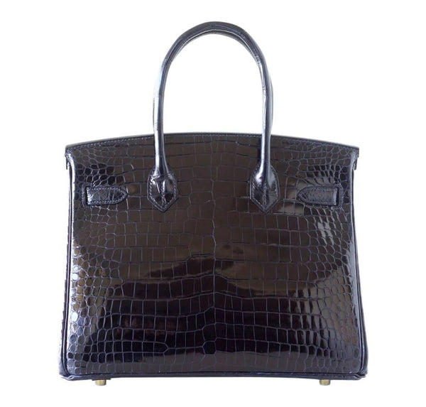 hermes birkin 30 bleu marine crocodile new back