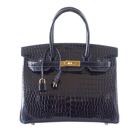 Hermes Birkin Blue Porosus Crocodile Bag