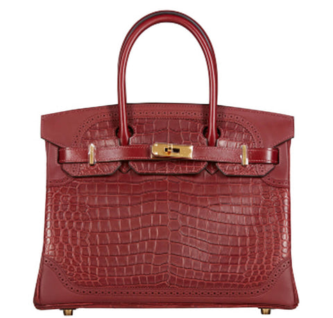 Hermes Birkin Ghillies 30 Bag Bourgogne