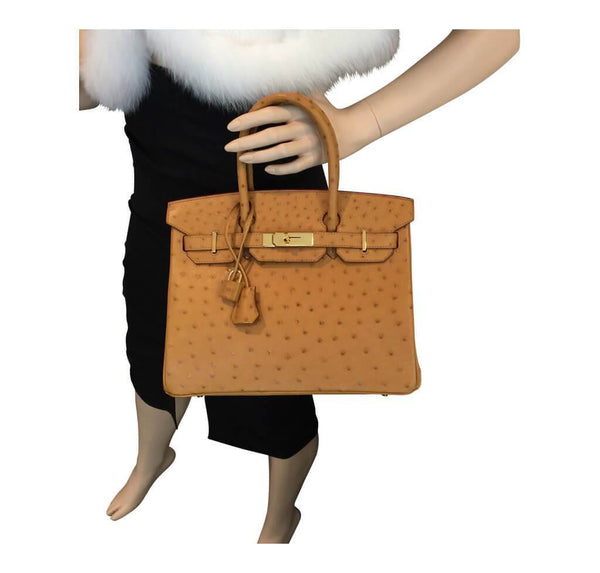 Hermes Birkin 30 Gold Ostrich Used Overview