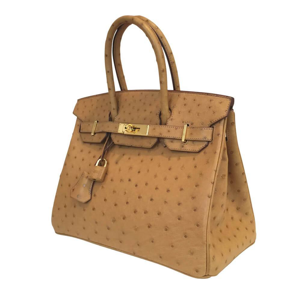 bc7abc6bb2f6f1 ... Hermes Birkin 30 Gold Ostrich Used Side ...