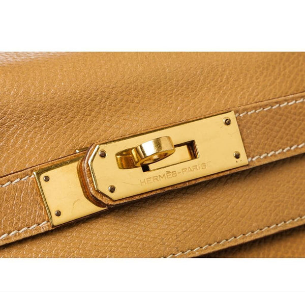 hermes kelly 28 gold used engraving