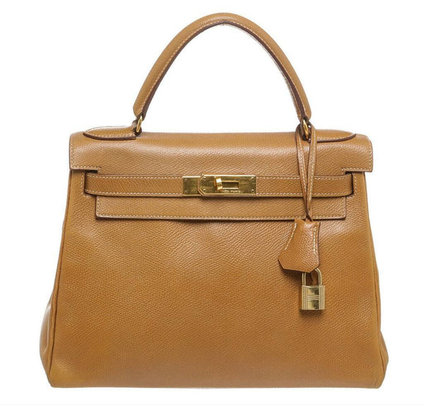 Hermes Kelly 28 Gold Epsom Bag