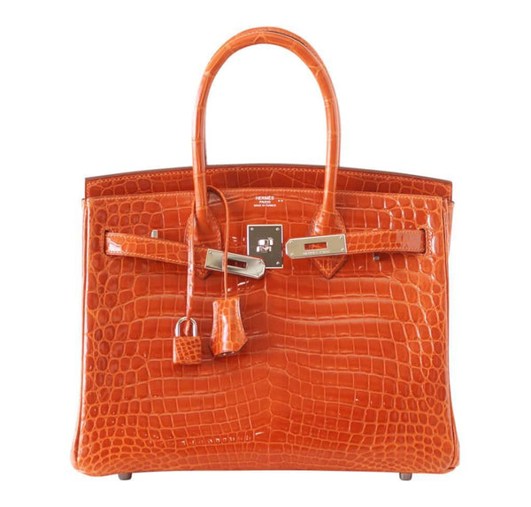 hermes birkin 30 potiron used front open
