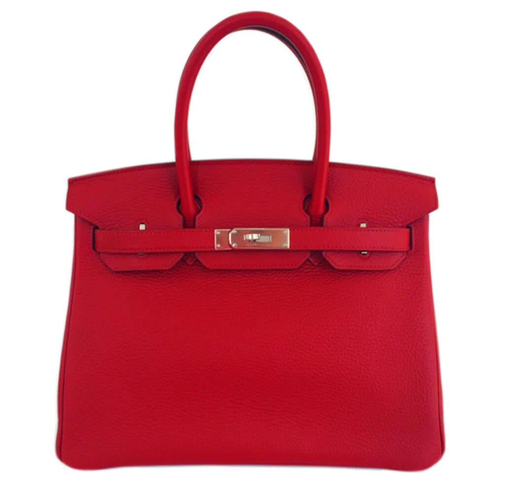 1039182ae7 Hermès Birkin 30 Rouge Garance Bag Togo Leather - Palladium | Baghunter