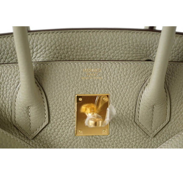 Hermes Birkin Bag Sage Clemence Leather