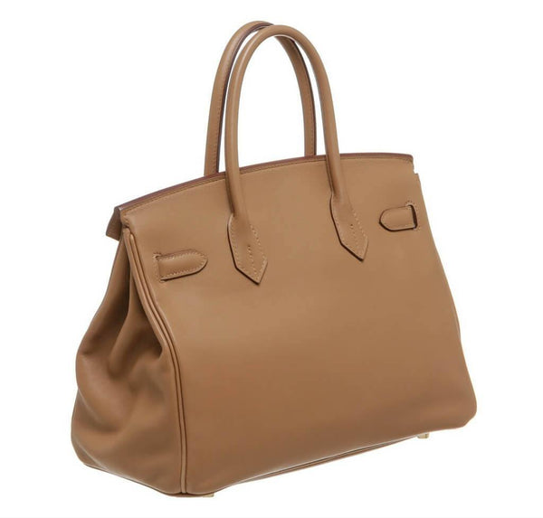 hermes birkin 30 tan used back