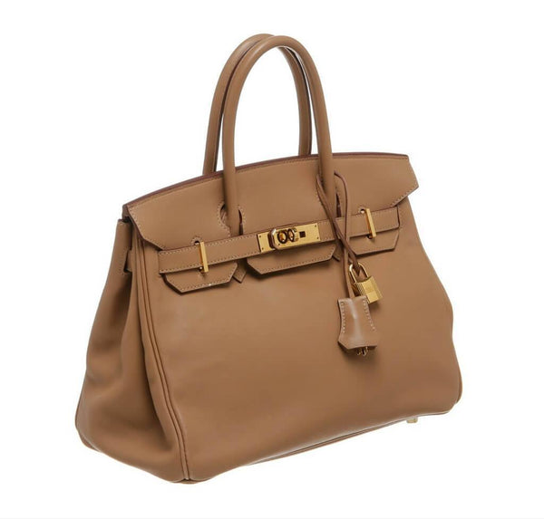 hermes birkin 30 tan used side
