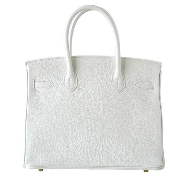 hermes birkin 30 white new back