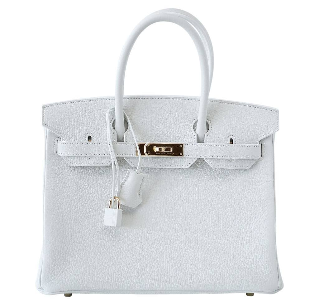 Hermès Birkin 30 White - Clemence Leather GHW   Baghunter 7d5ed36217