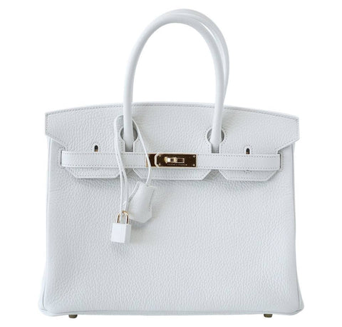 Hermes Birkin 30 White Bag