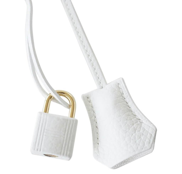 hermes birkin 30 white new lock