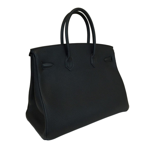 hermes birkin 35 black new back