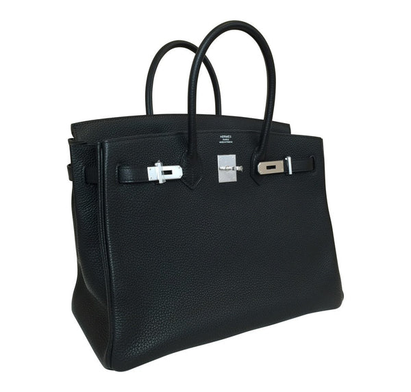 hermes birkin 35 black new side open