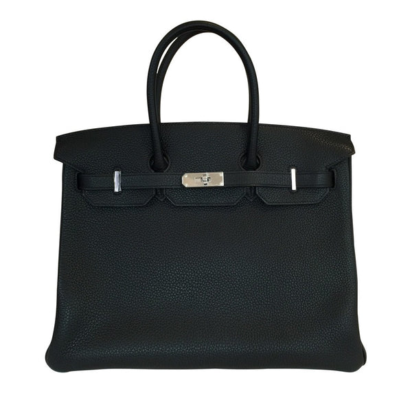 Hermes Birkin 35 Black Togo Bag