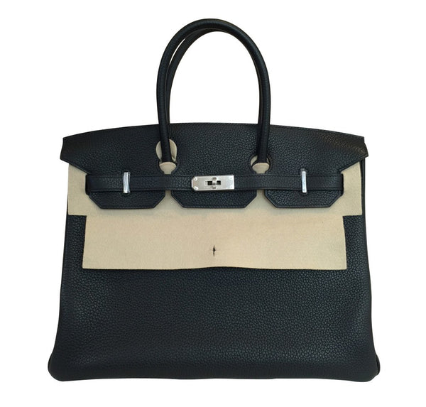 hermes birkin 35 black new front