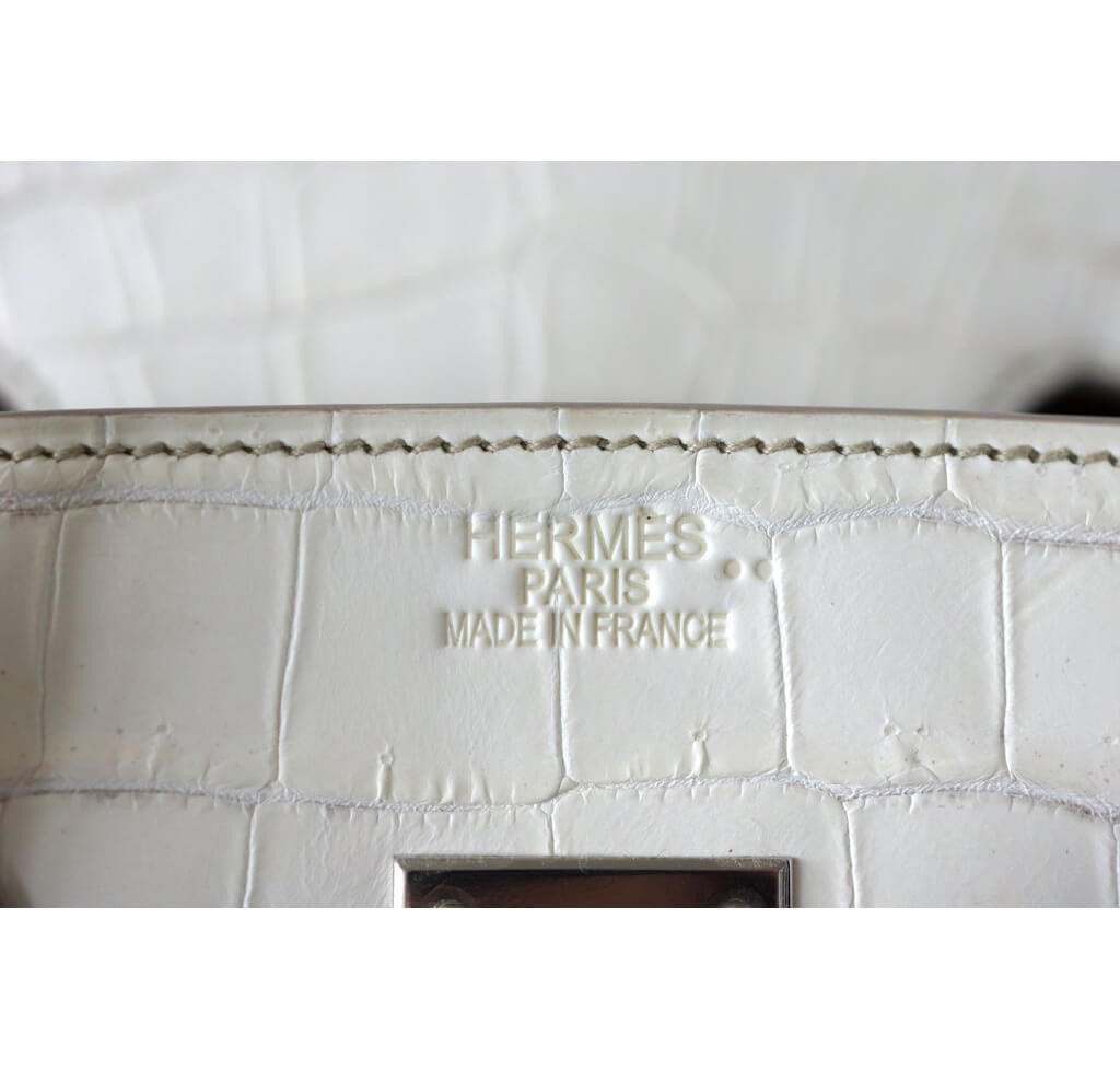 0e8f2920f5d ... Bag Hermes Birkin 35 Blanc Himalayan Limited Edition Embossing ...