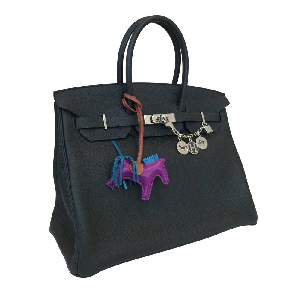 faux ostrich hermes handbags - Hermes Birkin 35 Blue Ocean - Clemence Leather | Baghunter