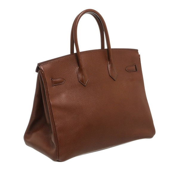 Hermes Birkin 35 Brown Used back