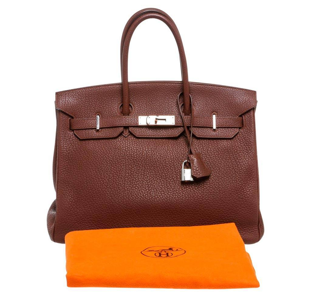 78cfa9a60a37 Hermès Birkin 35 Brown - Togo Leather PHW