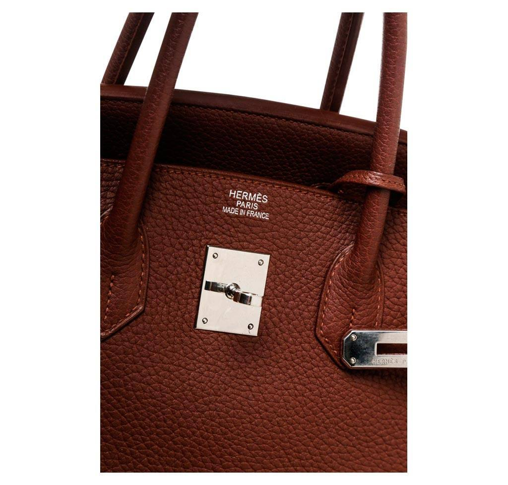 73a5abb5026b ... Hermes Birkin 35 Brown Used embossing ...