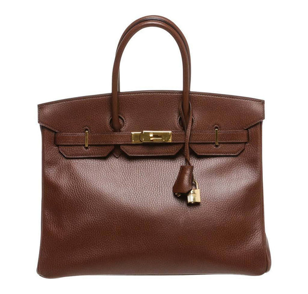 Hermes Birkin 35 Brown Bag