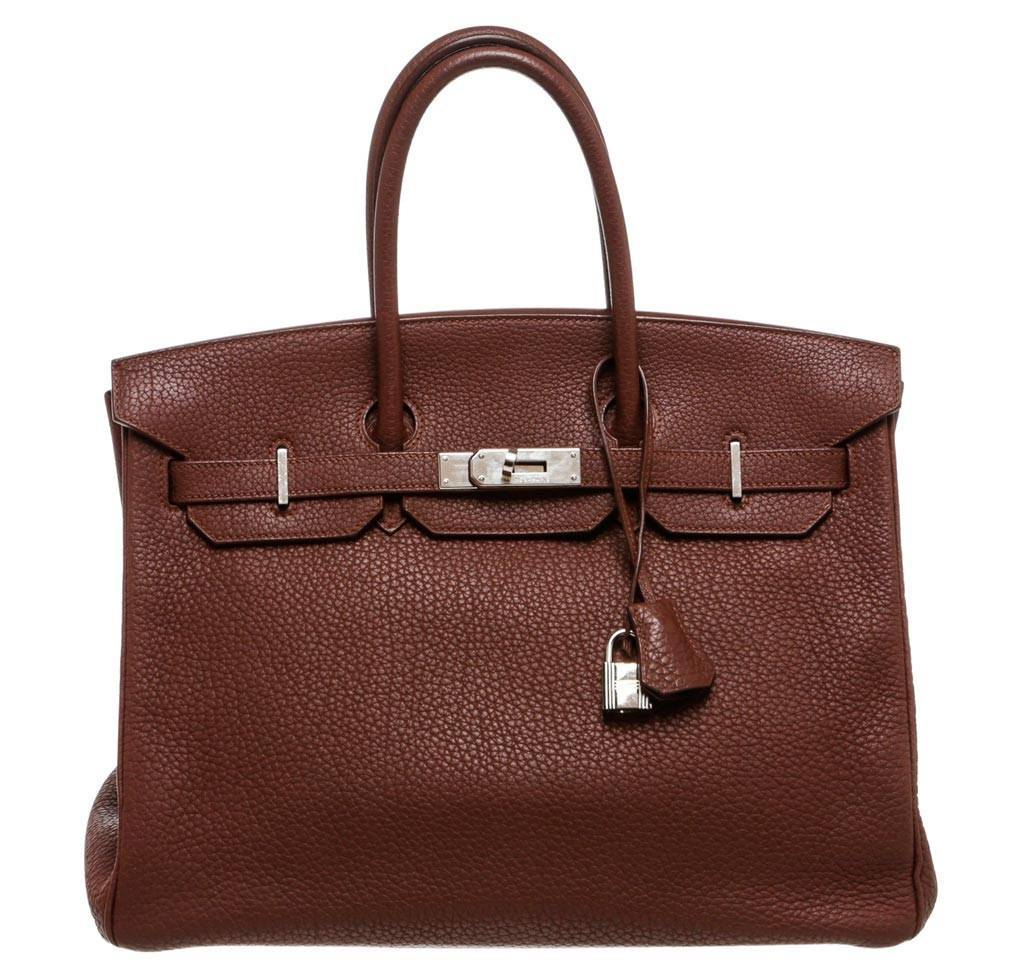 eca7368e47b41 Hermès Birkin 35 Brown - Togo Leather PHW