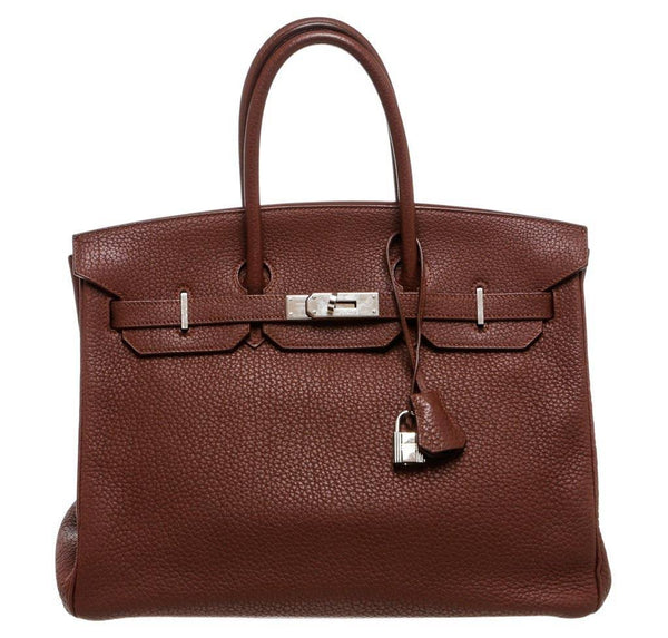 Hermes Birkin 35 Brown Togo Bag PHW