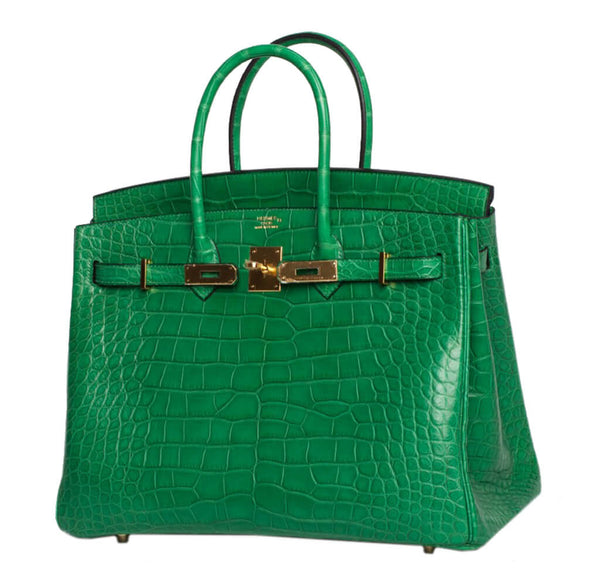 Hermes Birkin 35 Bag Cactus Alligator