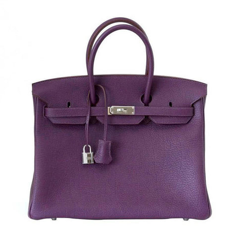 Hermes Birkin 35 Cassis Purple Bag