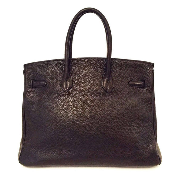 Hermes Birkin 35 Chocolate Brown Used Back