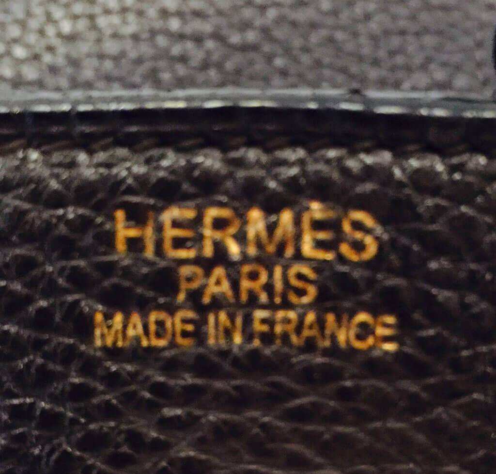 19899d4fa026 ... Hermes Birkin 35 Chocolate Brown Used Embossing ...