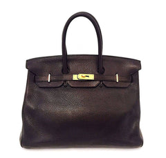 Hermes Birkin 35 Chocolate Brown Bag